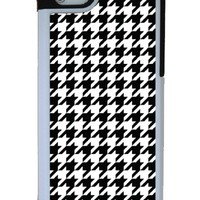 Houndstooth iPhone 5 case with extra protection- iPhone 5 cover, 2 piece rubber lining case