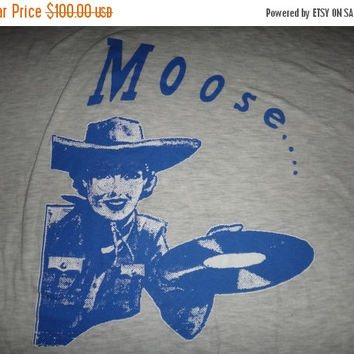 New Year Sale Vintage Early 1990s Moose Sheogazing T Shirt Indie Rock Promo Hut Records The Lillies RARE