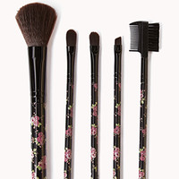 Rose Cosmetic Brush Set