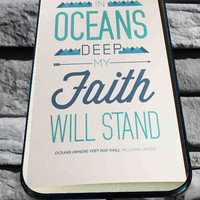 Oceans Quote for iPhone 4/4s, iPhone 5/5S/5C/6, Samsung S3/S4/S5 Unique Case *76*