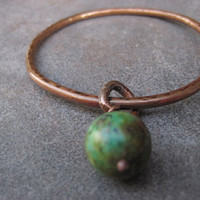 African Turquoise Bangle  Boho Chic by CopperTreeArt on Etsy