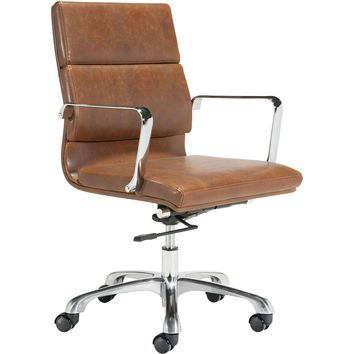 Ithaca Office Chair, Vintage Brown