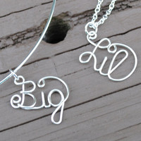 Wire Necklace Charms Big and Lil Sorority College Charms
