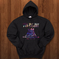 Fall out boy paramore monumentour logo Hoodie for size s-3xl, for color black, white, gray, and red