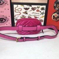 GUCCI M476434 GG Marmont Women Leather BUMBAG 2019 New