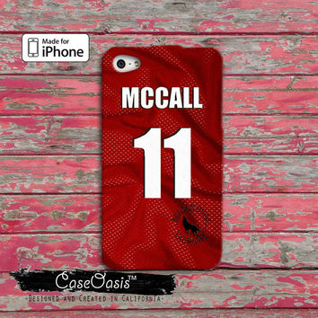 Teen Wolf Scott Mccall Beacon Hills Lacrosse Jersey Custom iPhone 4 and 4s Case and Custom iPhone 5 and 5s and 5c Case