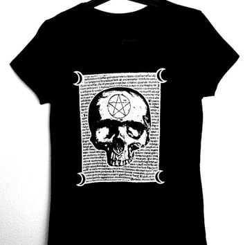 MALEFICARUM T-Shirt for woman,occultism,witchcraft,magick,skull,goth,dark,occult,horror,esoteric,wicca