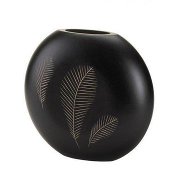 Tribal Feathers Decorative Vase (pack of 1 EA)