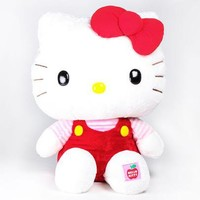 "Hello Kitty 37"" Giant Plush: Red Overalls"