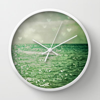 Sea of Happiness Wall Clock by Olivia Joy StClaire