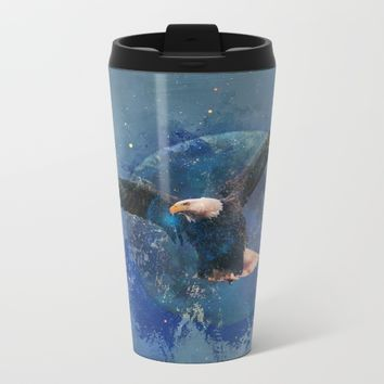 Eagle Moon Metal Travel Mug by Theresa Campbell D'August Art