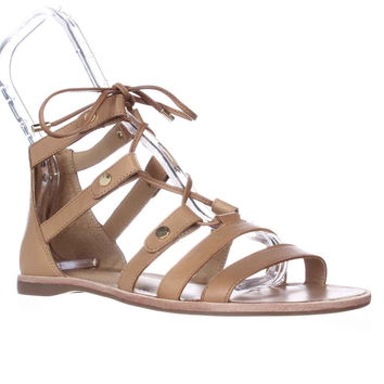 Franco Sarto Baxter Lace Up Gladiator Sandals - Peanut Butter