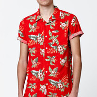 Modern Amusement Hawaiian Floral Short Sleeve Button Up Shirt at PacSun.com
