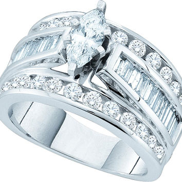 3  CT-Diamond 3-4CT-CMQ BRIDAL RING CERTIFIE