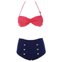 High-Waisted Bow Bikini