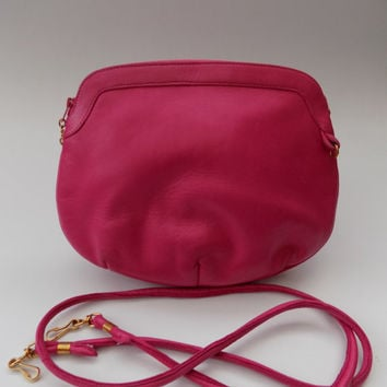 Lanvin Vintage Pink Lamb skin Leather Shoulder Bag. French designer purse.