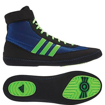 ADIDAS COMBAT SPEED 4 WRESTLING SHOES - BLUE/GREEN