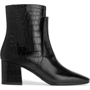 Givenchy - Ankle boots in black croc-effect leather