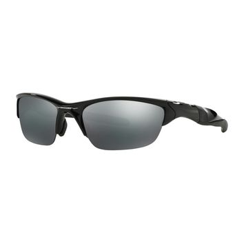 100% ORIGINAL OAKLEY HALF JACKET 2.0 POLISHED BLACK/BLACK IRIDIUM