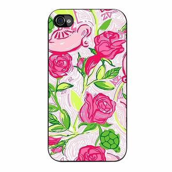 Pretty Red Roses Lilly Pulitzer 234 iPhone 4/4s Case