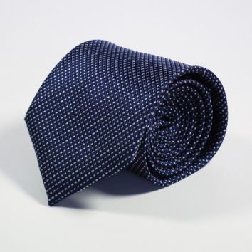 Dotted White and Blue on Dark Blue Tie