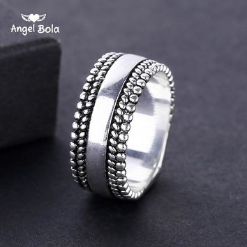 Punk New Arrival Silver Color Signet Buddha Ring Men Carved Vintage Ring Male Jewelry Cool Unique Gifts Drop Shipping