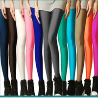 Sexy Solid Candy Neon Plus Size Women's Leggings High Stretched Gym Yoga Sports Jeggings Fitness Clothing Ballet Dancing Pant