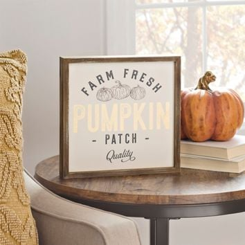 Vintage Pumpkin Patch Word Block