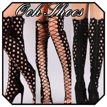 Black Gladiator Boot - Size 6 & 10 Only!