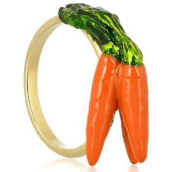Gold Carrot Ring