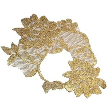 Metallic Gold Lace Half Mask ADHERES TO SKIN (& reusable) by LacedAndWaisted