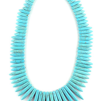 Bold Turquoise Statement Necklace