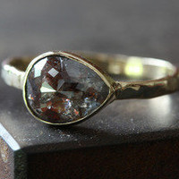 Alexis Russell — Black-Red Diamond Ring in 14kt Gold