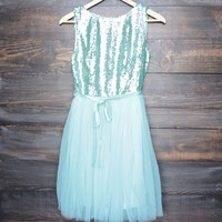 sugar plum 2.0 party dress with tulle skirt - mint