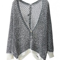 Hollow Out Batwing Sleeves Cardigan