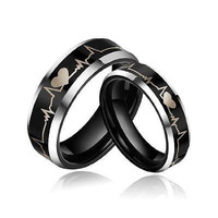 DASHING HIS AND HER LOVE 925 STERLING SILVER FOR ENAGAGMENT AND WEDDING RING SET