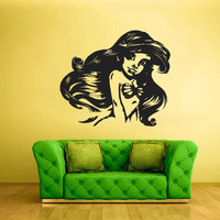 Wall Vinyl Sticker Decals Decor Art Bedroom Design Mural Sea Ocean Mermaid Girl Cartoon nymph (z2030)