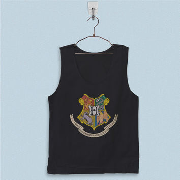 Men's Basic Tank Top - Harry Potter Hogwarts School of Witchcraft and Wizarddry Logo