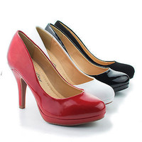Jack By City Classified, Round Toe Extra Cushioned Comfort Classic Dress Work Pumps