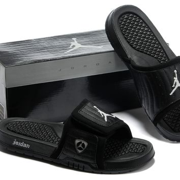 828e3880649ffc Nike Jordan Hydro XIV Black Sandals Slipper Shoes Size US 7-13