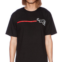 Black Scale x JT&CO Red Line Radical Tee in Black