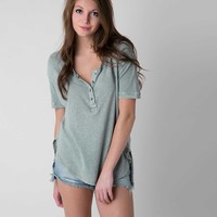 Free People Downtown Girl Henley Top
