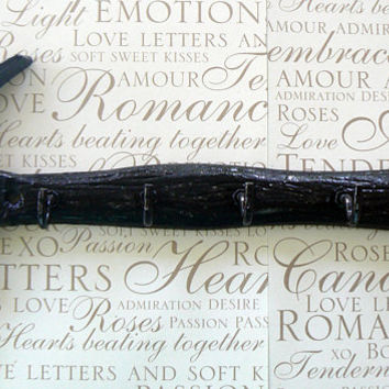 Hammer Tool 5 Hook Garage Mancave Wall Decor Workshop Black Distressed Rustic Cast Iron Shabby Style Chic Tools Organizer Chippy Fathers Day