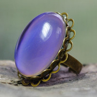 Mood Ring - Adjustable Bronze Lace Ring