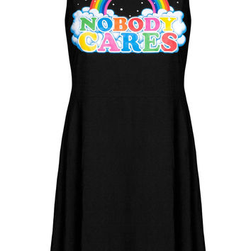 Nobody Cares Skater Dress [B]
