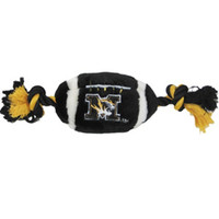 Missouri Tigers Plush Football Dog Toy