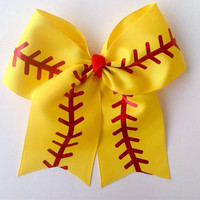 Softball-Mom-Fast pitch-Slow pitch-Hair-Bows-Accessories-Cheer-Handmade-Girl's-Ribbon-Team-Gifts for Her-Clip-Barrette