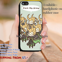 Join My Army Loki iPhone 6s 6 6s+ 5c 5s Cases Samsung Galaxy s5 s6 Edge+ NOTE 5 4 3 #movie #disney #animated #marvel #comic dl9