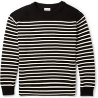 Saint Laurent - Striped Cotton and Wool-Blend Sweater | MR PORTER