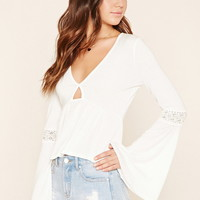 Bell-Sleeve Cutout Top